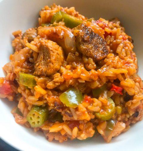 Vegan Creole Jambalaya