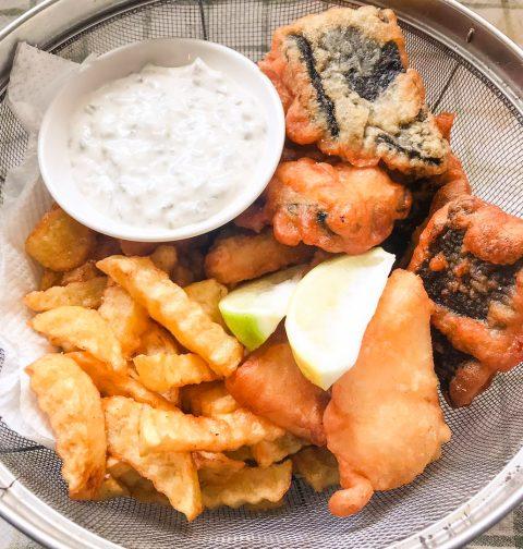 vegan fish n chips