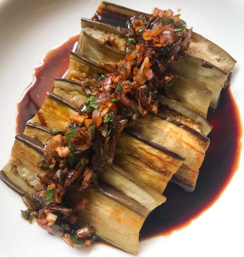 Eggplant in Spicy Sweet Soy Sauce