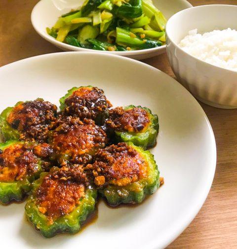 Tofu-Stuffed Bittergourd