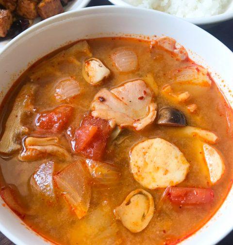 Vegan Tom Yum Soup Two Ways