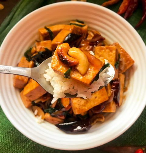 Thai Cashew Tofu Pad Med Mamuang