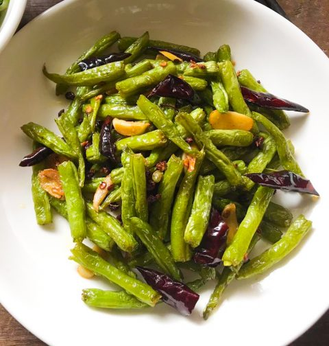 Authentic Sichuan Sauteed Green Beans