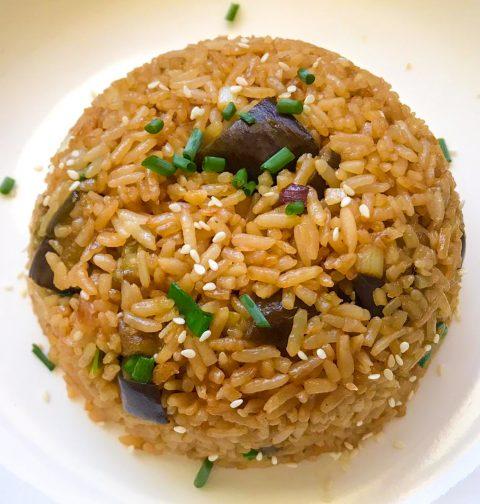 Eggplant Teriyaki Fried Rice