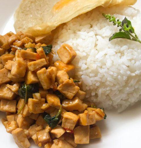 Holy Basil Stir-Fry Tofu Pad Krapao