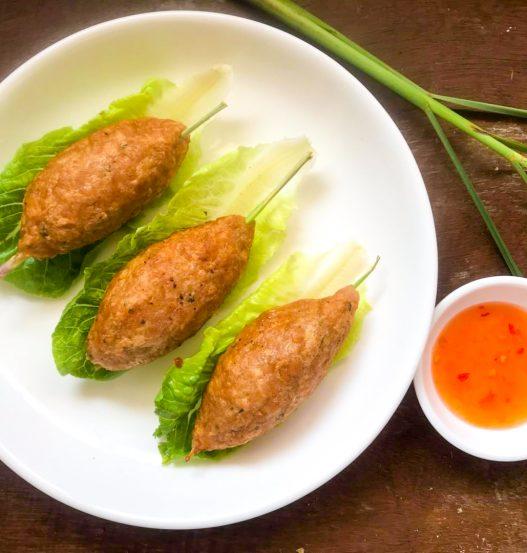 Lemongrass Not-Pork Skewers Moo Takrai