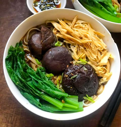Hawker Mushroom Chicken Horfun 香菇鸡丝河粉