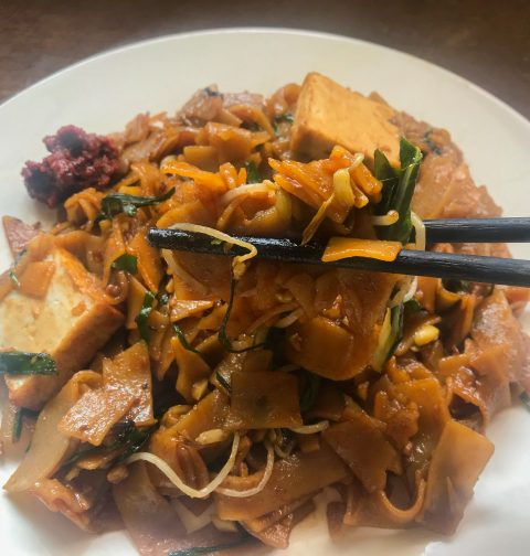 Vegan Char Kway Tiao (Singapore Fried Rice Noodles)
