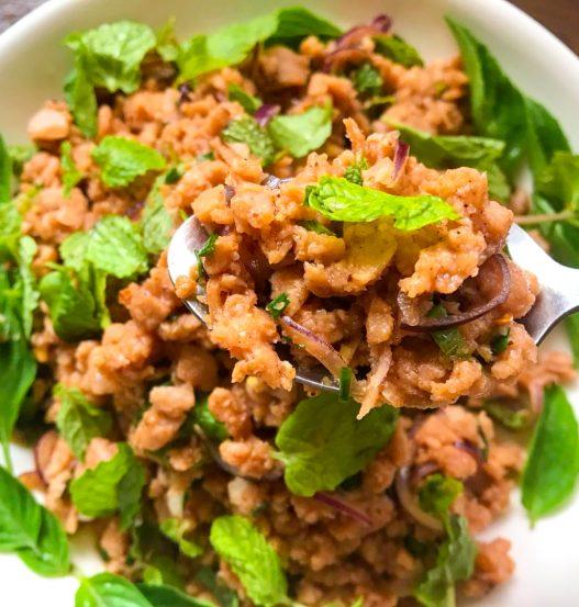 Vegan Laab Moo Thai Pork Salad with OmniMeat