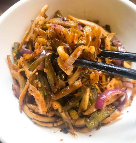 Spicy shredded eggplant and mushroom 平菇茄子下酒菜
