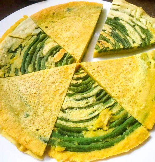 Long Bean Omelette 长豆角焖饼