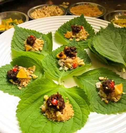 Vegan Miang Kham Thai One Bite Wrap
