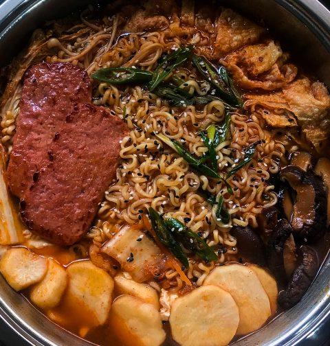 Vegan Budae Jjigae Korean Army Stew