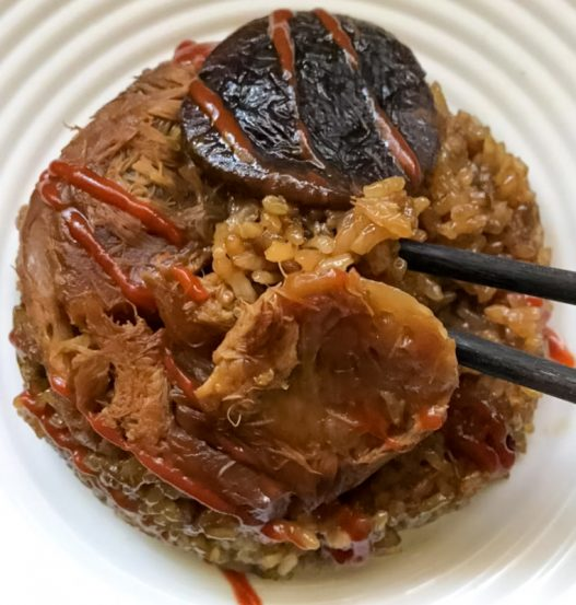 Steamed Glutinous Rice 糯米鸡 Vegan Lo Mai Gai