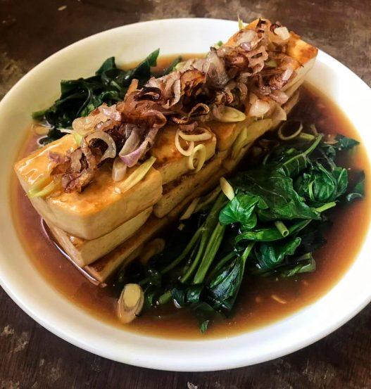 Lemongrass Tofu With Kangkong Easy Fast