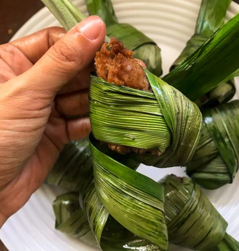 Vegan Pandan Chicken Gai Hor Bai Toey Jay