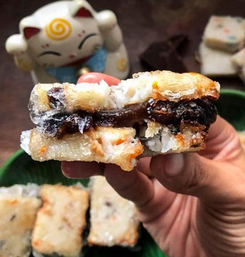 Deep Fried Nian Gao Radish Cake Sandwich