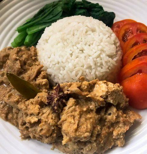 Vegan Rendang Recipe Seitan Tofu