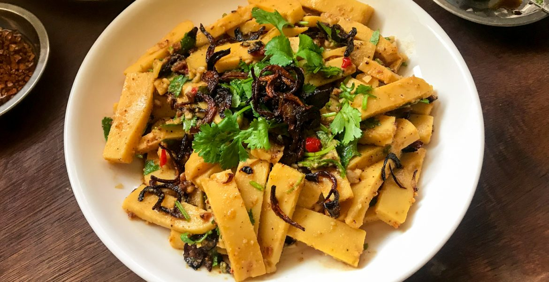 Tohu Thoke Burmese Shan Tofu Salad