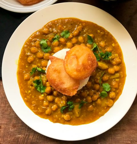 Summer Chickpea Curry with Green Mango