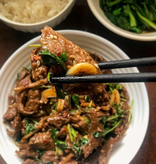 Xinjiang Cumin Lamb Seitan | 孜然素羊肉