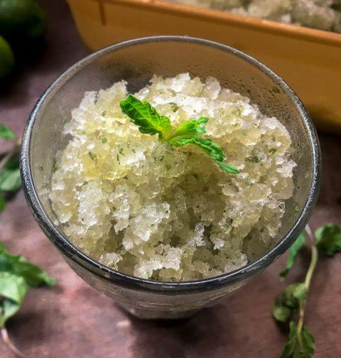 Basil Mint Calamansi Granita | Easy Refreshing Dessert