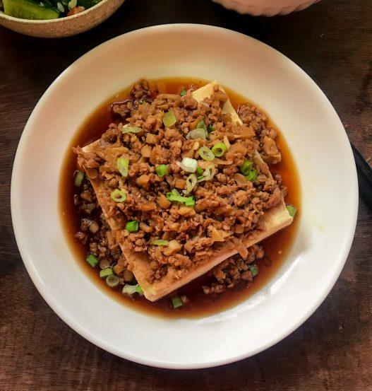 Steamed Soft Tofu with Mince | 肉末蒸嫩豆腐