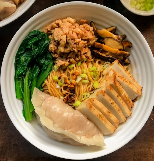 Vegan Bak Chor Mee minced meat noodles