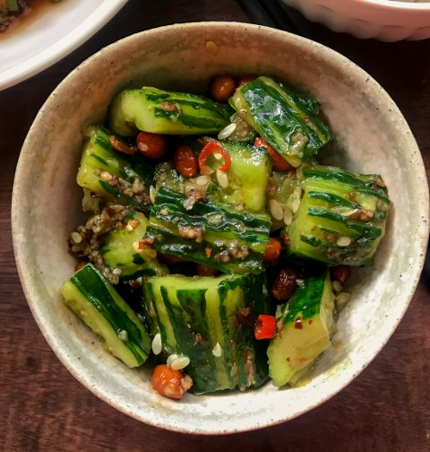 Chinese Smashed Cucumber Salad | 拍黄瓜