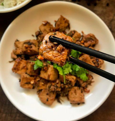 Tofu Kratiem Prik Thai Garlic Pepper Sauce