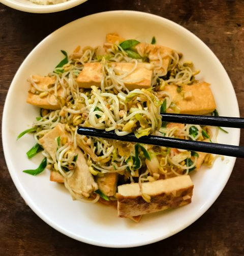 Tofu with Beansprouts | Taukwa Char Taugeh