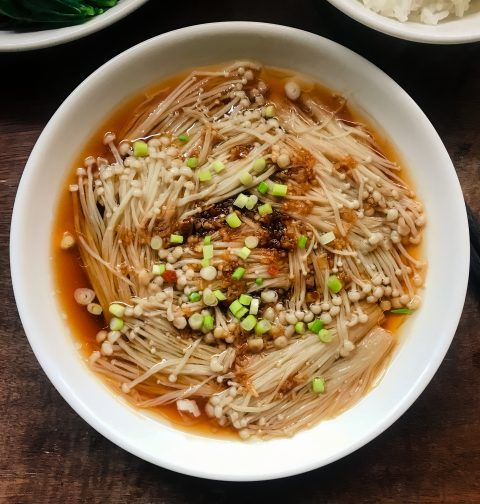 Steamed Garlic Enoki 蒜蓉金针菇